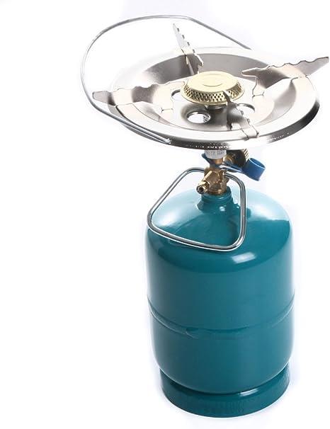 RG de distribución eléctrica Hornillo de Gas – Fregadero einflammig Camping hervidor para bombona de Gas 16 cm 22 cm