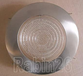 6u0026quot; Inch Recessed Can Light Satin Nickel Silver Shower Trim With Clear  Fresnel Lens Fits