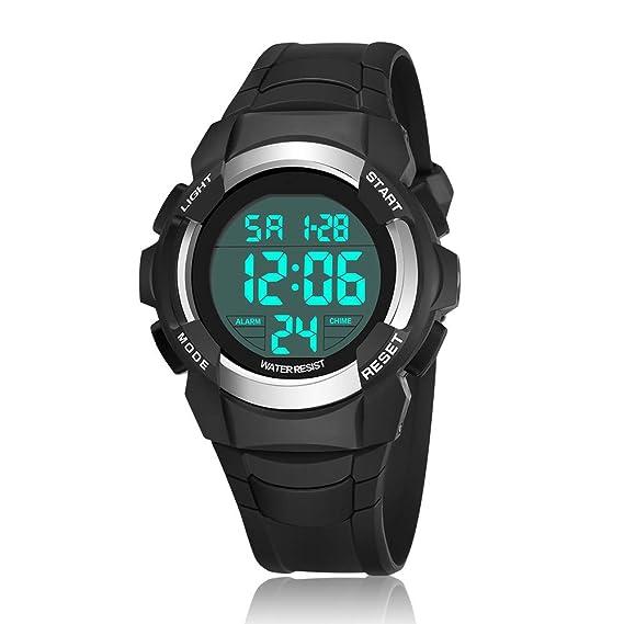 BSAMZ LED Reloj Deportivo Digital dd63255c8b68