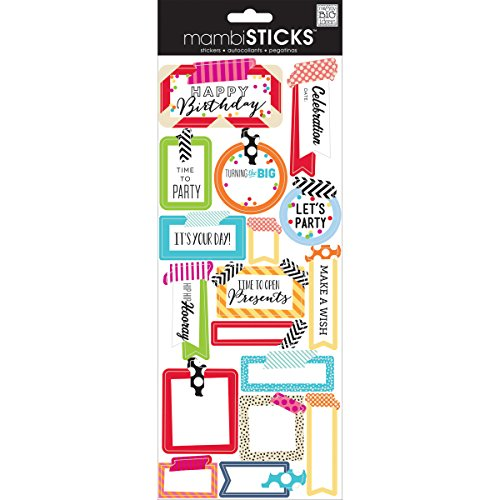 ideas mambiSTICKS Stickers Washi Birthday