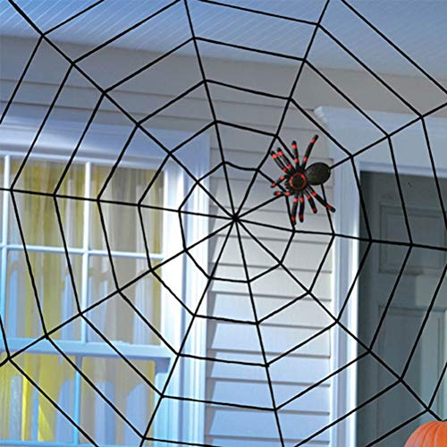 2PCS Black Creepy New Huge Spider Web Halloween Decoration Cobweb Party Bar Gift by BERTERI