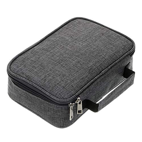 BTSKY High Capacity Zipper Pens Pencil Case- Multi-Functional Stationery Pencil Pouch 72 Slots Colored Pencil Case Portable Pencil Bags with 2 Removable Sleeves Grey
