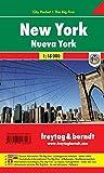 New York, Stadtplan 1:18.000, City Pocket + The Big Five, freytag & berndt Stadtpläne