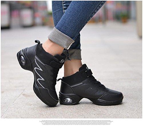 Sneakers 7 M US PU Sport Black Women's Modern Dance Grey D2C Jazz Beauty Shoe pFxq8Pq