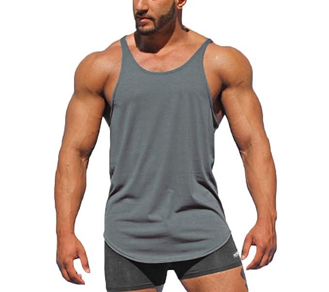 Musclealive Herren Bodybuilding 1cm Strap Sonderangebot Weste Baumwolle