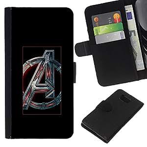 JackGot ( Futurista Un Inicial ) Samsung ALPHA G850 la tarjeta de Crédito Slots PU Funda de cuero Monedero caso cubierta de piel