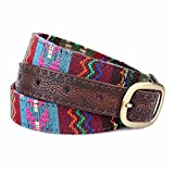 SAIBANGZI Ms Women All Seasons Belt Casual Jeans Belt Fine Fabric Fashion Decorative Belt Girlfriend Present Brown 82-92Cm