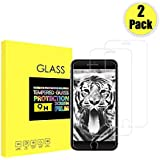 iPhone 8 7 6 Screen Protector Tempered Glass 2 Pack, 2.5D Edge, 9H Hardness, Crystal Clear, Bubble Free, 3D Touch Compatible, ICFPWR Screen Protector Compatible with iPhone 8 7 6