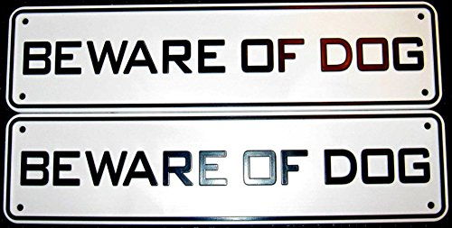 Beware Of Dog Sign Set Of 2
