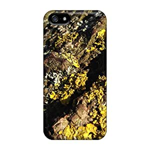 For Iphone Case, High Quality Rough Wooden Craters For Iphone 5/5s Cover Cases