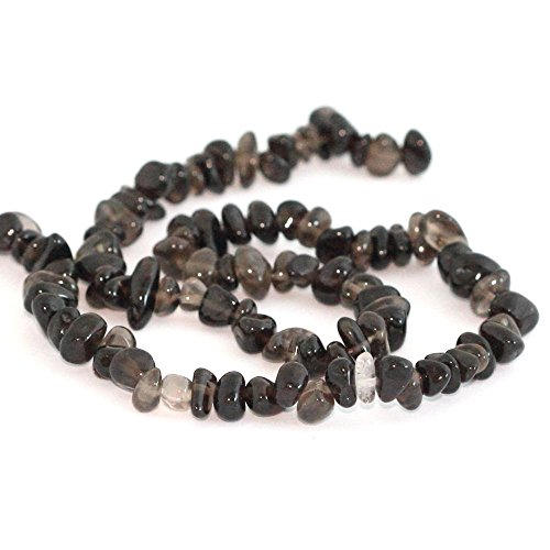 AAA Natural Smoky Quartz Gemstones Round Chips Beads Free-form Loose Beads ~8x5mm beads ( ~16