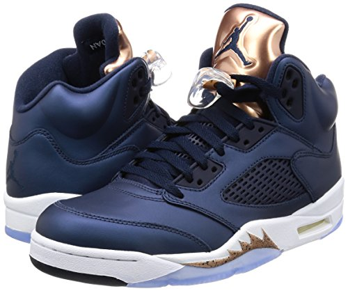 Nike Mens Air Jordan 5 Retro u0026quot;Olympicu0026quot; Bronze Obsidian/White-Bronze Leather Size 12 - Buy Online ...