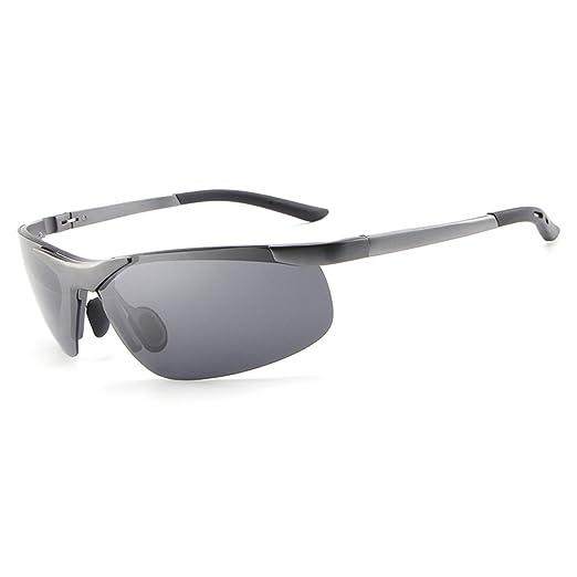 dab197d0325 HDCRAFTER Vintage Polarized Driving UV Sunglasses for Men Sports Golf  Goggles E012 (E806 Grey