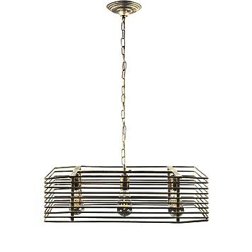 ZZW Lámparas de Hierro, 3 Luces LED Industrial Barra de iluminación Decorativa de Techo lámparas