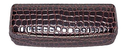 Glasses Case For Men & Women, Hard Eyeglass Case In Faux Crocodile Leather, - Crocodile Eyewear