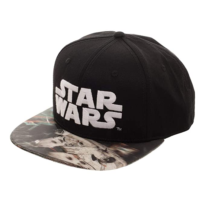 ffbc528d585 Amazon.com  Star Wars Millenium Falcon Lenticular Bill Snapback Hat ...