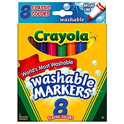 Crayola Washable Markers, Broad Tip, Classic Colors, 8 Count (Pack of 3): Toys & Games