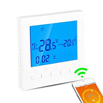 Fenteer Wifi LCD Programmierbar Thermostat Wandthermostat Fussbodenheizung Innen Temperaturregelung