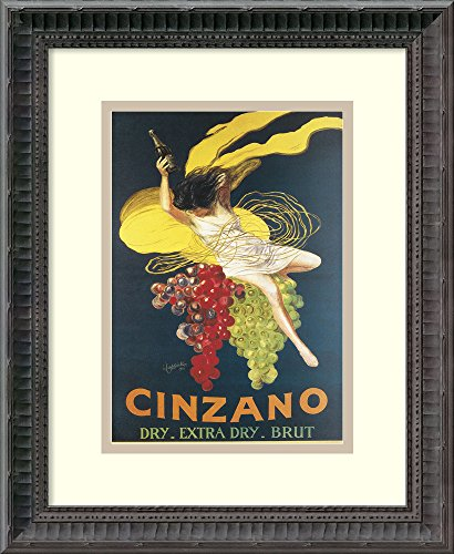 Cinzano Framed - Framed Art Print, 'Cinzano, 1920' by Leonetto Cappiello: Outer Size 13 x 16