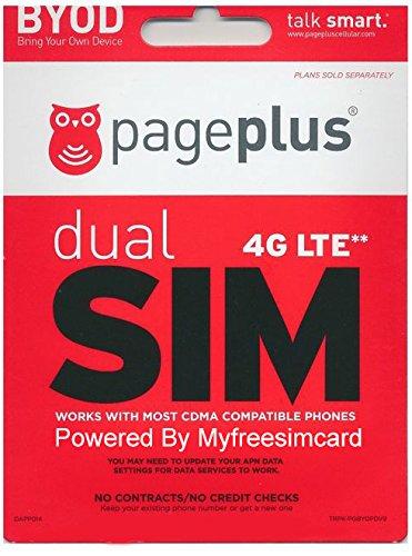 Page Plus Dual Sim Card ( Standard & Micro ) Works With Verizon Phones