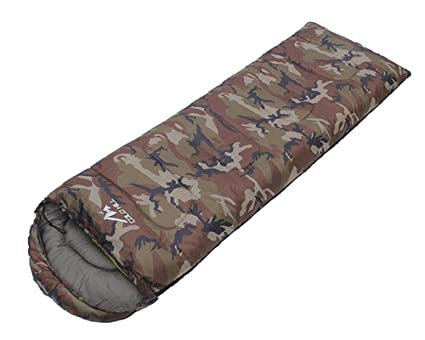 baijuxing Saco de Dormir con Sombrero para Acampar al Aire Libre Solo Impermeable 1KG Saco de