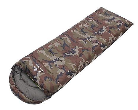 baijuxing Saco de Dormir con Sombrero para Acampar al Aire Libre Solo Impermeable 1.3 KG Saco