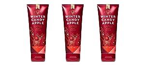 Bath & Body Works Winter Candy Apple Ultra Shea Body Cream - 2018 Edition - Lot of 3