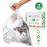 2.6 Gallon Strong Trash Bags Garbage Bags by Teivio, Bathroom Trash Can Bin Liners, Small Plastic Bags for home office kitchen,fit 10 Liter, 2,2.5,3 Gal, Clear