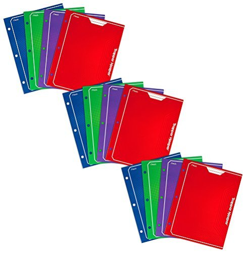 (Mead Trapper Keeper 2-Pocket Portfolio, 12 x 9.38 x .12 Inches, Assorted Colors, Pack of 12)