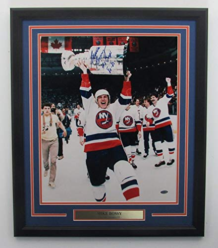 Mike Bossy ISLANDERS Signed/Framed/Inscribed 16x20 Color Photo Steiner 141836