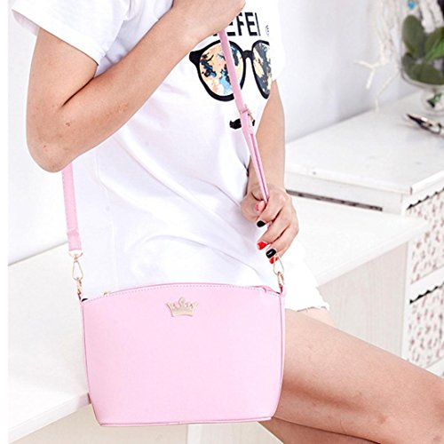 Crown Bags Pink Imperial Crown Casual Women Party Cross Mamum Fashion Purse Shoulder Shell Bag Messenger Handbags xrYn0ZwY6