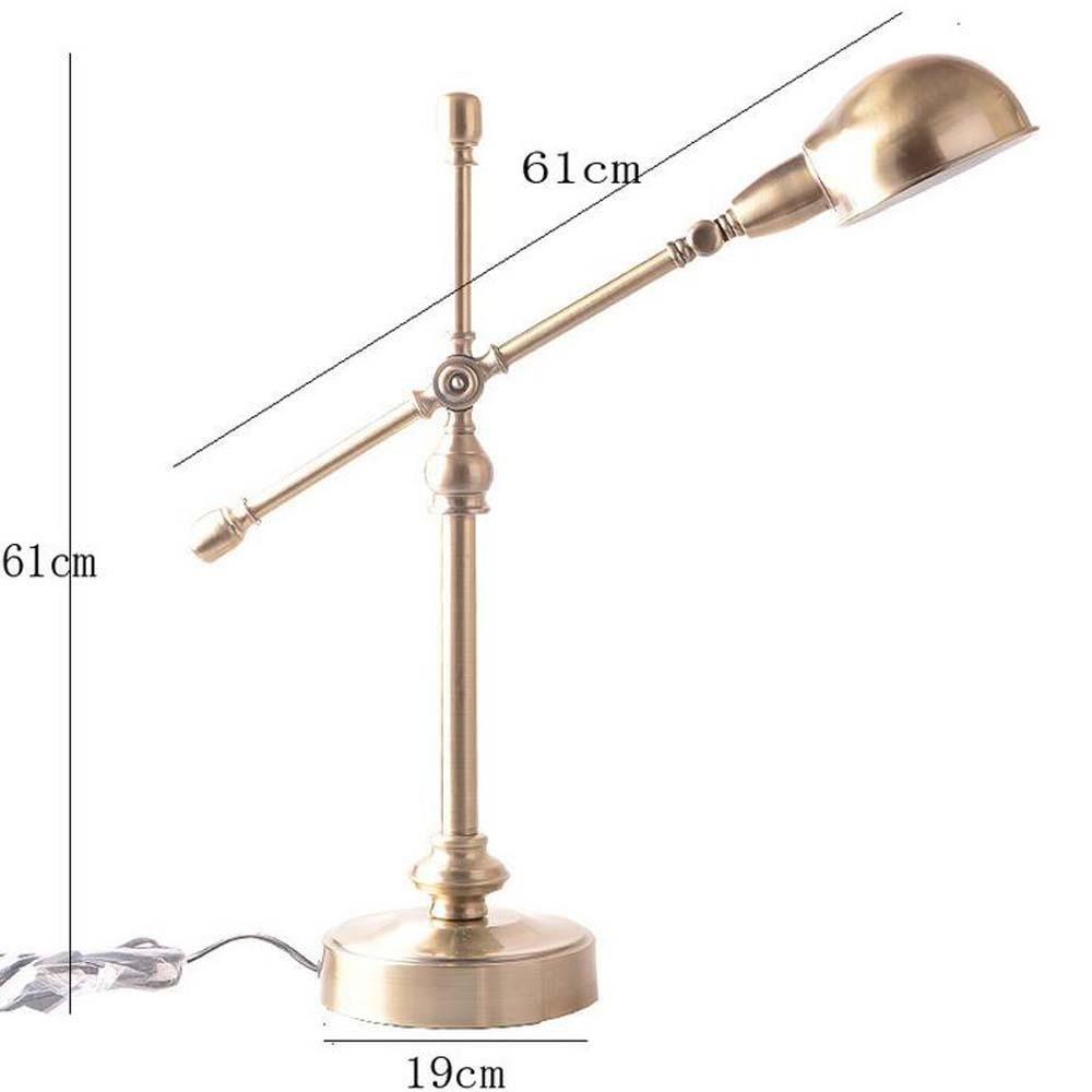Continental retrò   bronzo   camera   studio   lato del letto   ufficio   lampada principale dimmable