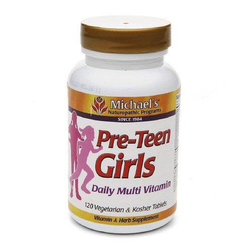 Michael's Naturopathic Programs Pre-Teen Girls Daily Multi Vitamin, Veggie Tabs 120 ea