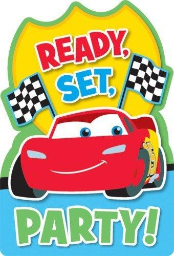 Disney Cars 1st Birthday Invitations 8 Invites Party Supplies Lightning McQueen