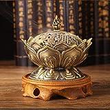 Hot Sale Incense Burner Censer Imitation Copper no Fade Unbreakable Lotus Shape Classical Metal Crafts