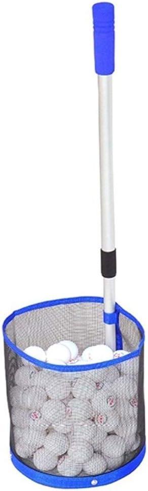 No Logo ZANGAO Telescópica Mesa de Ping Pong Bola Selector 2 Sección de Aluminio Polo Mesa de Ping Pong Recogiendo Colección Net Tiene Capacidad for 120 PCS Bolas del Ping-Pong