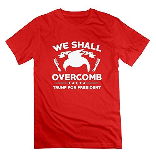 - XXL Bert Pandora Mens We Shall Overcomb Trump For President Funny Tshirts
