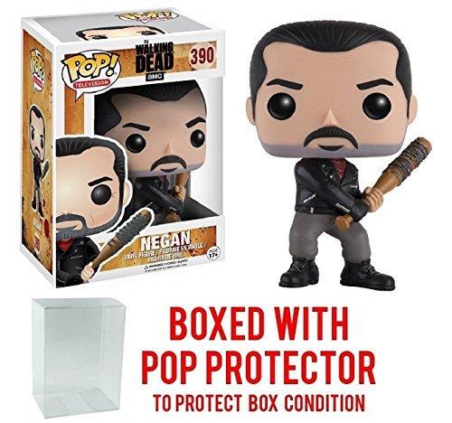 Funko Pop! TV: The Walking Dead - Negan #390 Vinyl Figure (Bundled with Pop BOX PROTECTOR CASE) - Bobble Head Jesus
