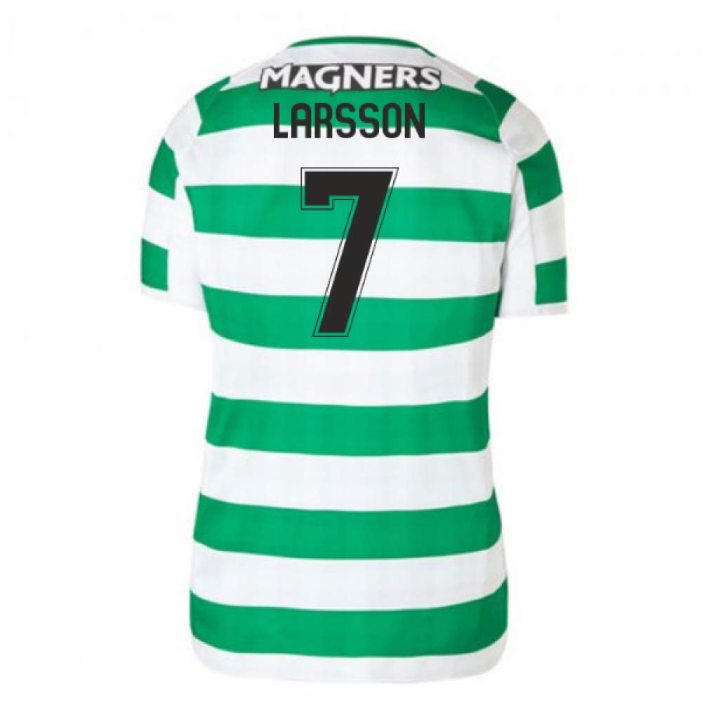 2018-2019 Celtic Home Ladies Football Soccer T-Shirt Trikot (Henrik Larsson 7)