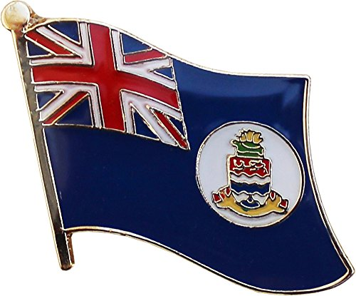 Flagline Cayman Islands - National Lapel Pin (White Disk)