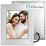 Nixplay Iris 8 Inch WiFi Digital Picture Frame Silver - Share Moments Instantly via App or E-Mail