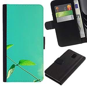 Paccase / Billetera de Cuero Caso del tirón Titular de la tarjeta Carcasa Funda para - Plant Nature Forrest Flower 13 - Samsung Galaxy Note 3 III N9000 N9002 N9005
