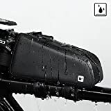Rhinowalk Bike Bag Bike Top Tube Bag Bike Frame Bag Waterproof and Stable Bicycle Frame Bag Bicycle Bag Professional Cycling Accessories Black