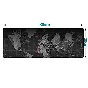Extended Gaming Mouse Pad,Large Size 31.5*11.8 inches (World Map Edge)