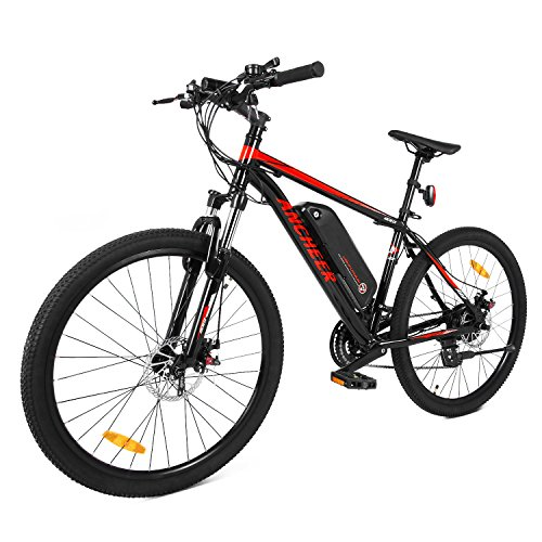 Ancheer 2018 Electric Mountain Bike with Removable LG 36V 8Ah Lithium-Ion Battery for Adults, 26 Inch Electric Mountain Bicycles with Shimano 21 Speed Shifter by ANCHEER (Image #9)