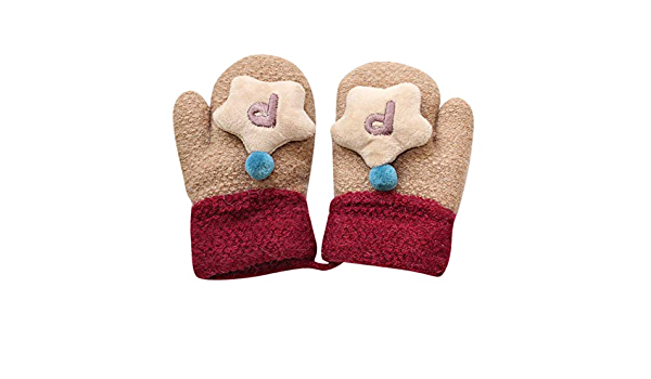 Zeagro Winter Gloves Toddler Mittens Thermal Warm Knit Gloves for Children Girls Boys Christmas Birthday Gift 1-3 Years Old