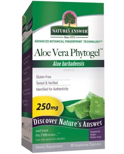 Aloe Vera Phytogel 90 Caps Nature's Answer, Digestive Tract Health 3 bott.