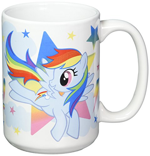 Pony Mug (Zak Designs MLPZ-1590 My Little Pony TV Ceramic Mug, Large, Multicolor)