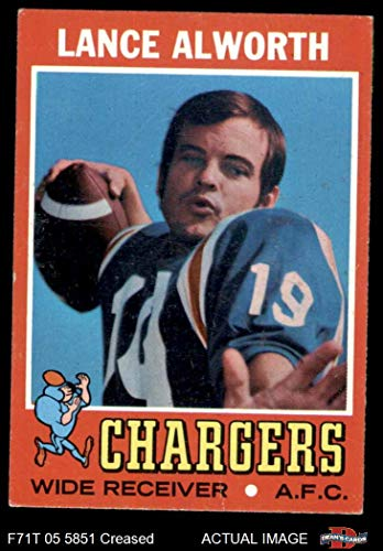 1971 Topps # 10 Lance Alworth San Diego Chargers (Football Card) Dean's Cards 3 - VG Chargers