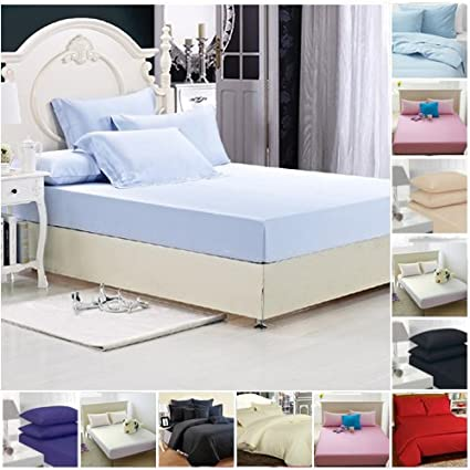 King Superking Double Polycotton Percale FLAT Bed Sheet in Single